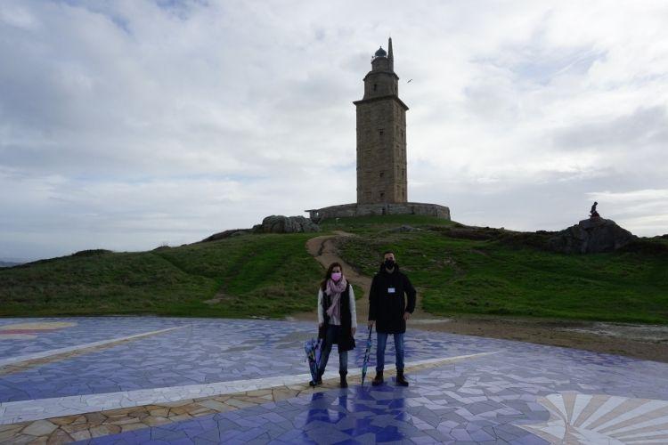 Aida y Manu en la Torre